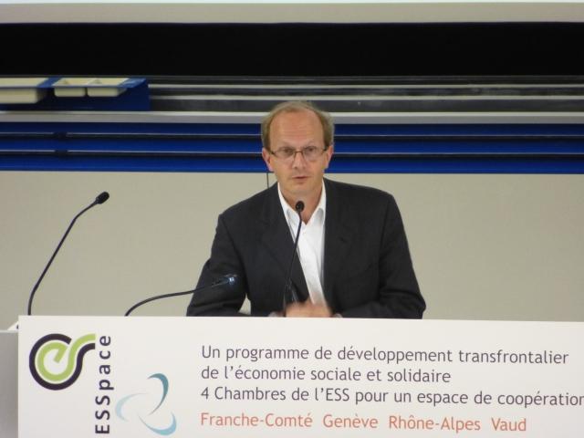Cyril Kretzschmar, conseiller régional  Rhône-Alpes,  délégué à l'emploi, l'économie, économie sociale et solidaire et l'innovation sociale (EELV)